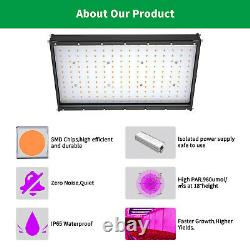 2000W Full Spectrum Led Grow Light + 80x80x80in Indoor Tent Box Complete Kits