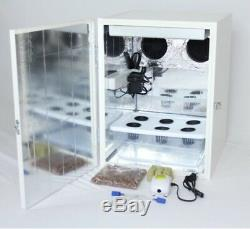 20 Stealth Grow Box 6 Site Hydroponic System LED Grow Light