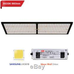 240W LED Grow Light Full Spectrum Samsung LM301B Chips LED Board 3500K Mix 660nm