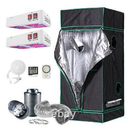 31x31x71 Grow Tent Kit with 600w LED Light & Fan + Carbon Filter Combo 2.5'x2.5