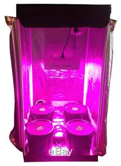 4 Site Hydroponic Grow Room Complete Grow Tent 300w LED Grow Light with IR