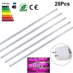 5/25Pcs 4ft 60W Full Spectrum LED Plant Grow Light Fluorescent T8 Tube Bulb Lamp