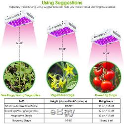 BLOOMSPECT 600W LED Grow Light with Double Chips Full Spectrum for Indoor Plants