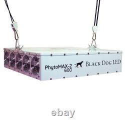 Black Dog LED Grow Light Phytomax-2 600 With FREE Shipping &Ratchet Light Hangers