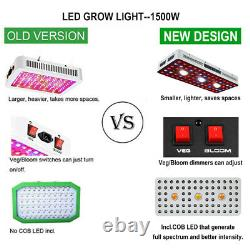 CREE COB Series 1500W LED Plant Grow Light Kits Full Spectrum for Indoor Herbs