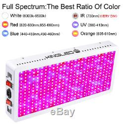 King Plus 4000W Double Chip LED Grow Light Full Spectrum Indoor Greenhouse Plant