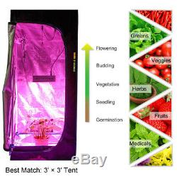 Mars Hydro Eco 600W LED Grow Light+2' x 2' x 5'Grow Tent Kit SMD Chip Veg Bloom