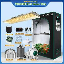 Mars Hydro TSL 2000W LED Grow Light 4'x2' Indoor Tent Carbon Filter Complete Kit
