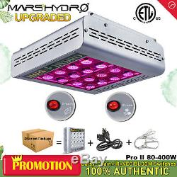 Newest Mars Hydro Pro II 400W LED Grow Light for Plant Indoor Lamp Veg Flower IR