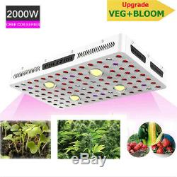 Phlizon CREE COB 2000W LED Grow Lights +Monitor for Indoor Hydro Plants Medicals