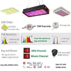 Phlizon Newest VEG/BLOOM 600W LED Plant Grow Light with TH Monitor for Medicals