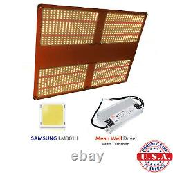QUANTUM Grow Light 500w V3 Samsung LM301H 660nm with Meanwell HLG 480 driver